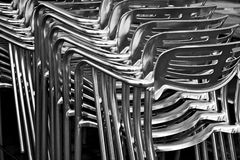 Metal chairs Royalty Free Stock Photos
