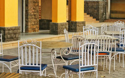 Metal Chairs & Table Sitout Stock Images