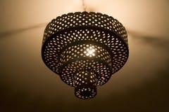 Metal chandelier Stock Images