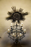 Metal  chandelier in a church Stock Photo