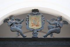 Metal cherubs, Priego de Cordoba. Royalty Free Stock Photography