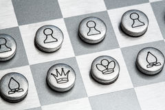 Metal chess Stock Images
