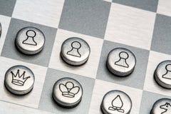 Metal chess Stock Photos