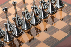 Metal chess Stock Photo
