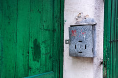 Metal Chinese Mailbox, Guangzhou, China Royalty Free Stock Photo