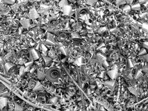Metal chip / shavings. (for background royalty free stock photos