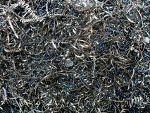Metal chip / shavings. (for background royalty free stock photography