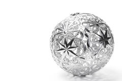 Metal christmas ball Stock Photo