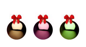Metal christmas balls. And ornaments, bauble Royalty Free Stock Photography