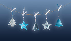 Metal Christmas decorations Stock Photography