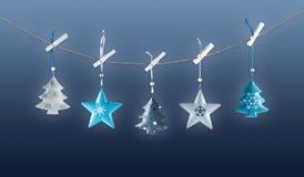 Metal Christmas decorations stock photography