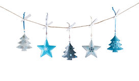 Metal Christmas decorations stock images