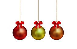 Metal christmas ornaments Royalty Free Stock Photos