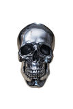 Metal chrome skull. Isolated on white background royalty free stock images
