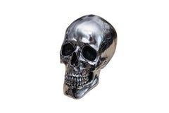 Metal chrome skull Royalty Free Stock Image