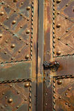Metal church door Stock Image