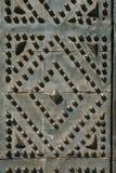 Metal church door. Ornamented metal church door in naples, italy royalty free stock images