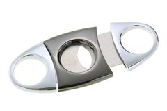 Metal Cigar Cutter isolated on white Royalty Free Stock Photo