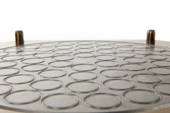 Metal circle background Royalty Free Stock Images
