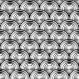Metal Circles Background. Texture or background with metal gray circles Royalty Free Stock Photo