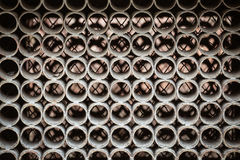 Metal circles pattern, inside of machine. Backgrounds, patterns and textures concept. Dusty metal circles pattern, inside of machine Royalty Free Stock Photos