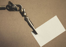 Metal Clamp And Paper Stock Photos