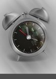 Metal Classic Style Alarm Clock. Stock Images