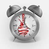 Metal Classic Style Alarm Clock Royalty Free Stock Photo