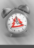 Metal Classic Style Alarm Clock Royalty Free Stock Photos