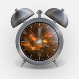 Metal Classic Style Alarm Clock. Royalty Free Stock Photos