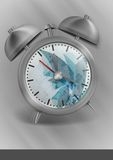 Metal Classic Style Alarm Clock. Royalty Free Stock Photography