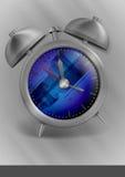 Metal Classic Style Alarm Clock. Royalty Free Stock Photo