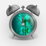 Metal Classic Style Alarm Clock. Royalty Free Stock Photo