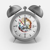Metal Classic Style Alarm Clock. Stock Photos