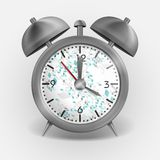 Metal Classic Style Alarm Clock. Royalty Free Stock Images