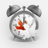 Metal Classic Style Alarm Clock Stock Images
