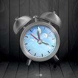 Metal Classic Style Alarm Clock Stock Photos