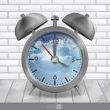 Metal Classic Style Alarm Clock Stock Images