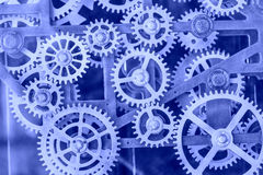 Metal clock  gears Stock Image