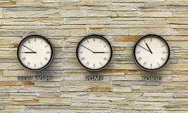 Metal clocks Royalty Free Stock Images