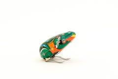 Metal clockwork toy frog Royalty Free Stock Image