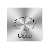 Metal cloud. Stock Images