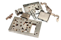 Metal cnc details. Matrix and puncheon. Milling and drilling ind Stock Photography