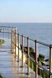 Metal coastal fence Royalty Free Stock Photos