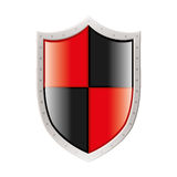 Metal coat of arms with square figures Stock Images