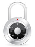 Metal code padlock Stock Photo