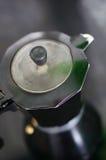 Metal coffeemaker Stock Photo