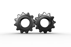 Metal cog and wheel connecting Stock Image