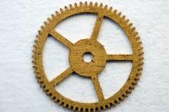 Metal cogwheel a clockwork. Macro Royalty Free Stock Photo