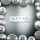 Metal Cogwheel Frame Design Background Stock Images